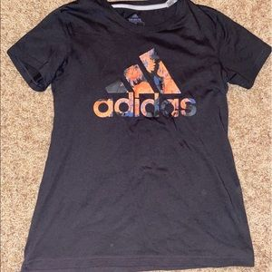 Adidas Shirt with Pattern on Logo - S